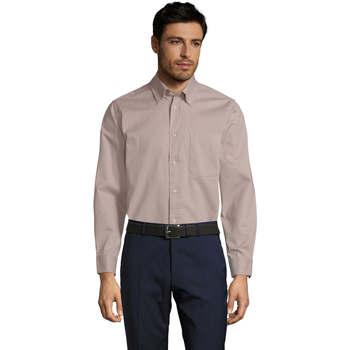 textil Hombre camisas manga larga Sols BEL-AIR Beige