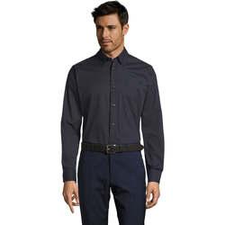 textil Hombre camisas manga larga Sols BEL-AIR Azul
