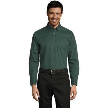 textil Hombre camisas manga larga Sols BEL-AIR Verde
