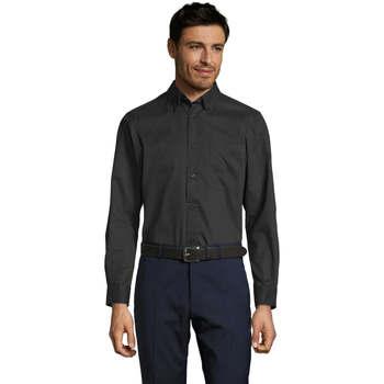 textil Hombre camisas manga larga Sols BEL-AIR Negro