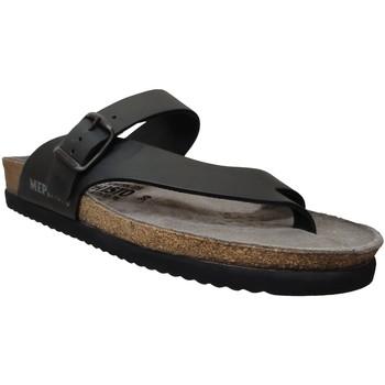 Zapatos Hombre Chanclas Mephisto NIELS Cuero negro