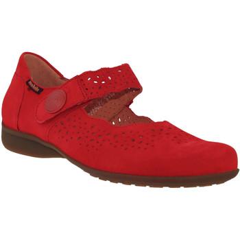 Zapatos Mujer Bailarinas-manoletinas Mobils By Mephisto FABIENNE Rojo nobuck