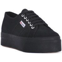 Zapatos Mujer Zapatillas bajas Superga COTU FULL BLACK UP AND DOWN Nero
