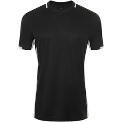 textil Hombre camisetas manga corta Sols CLASSICO SPORT Negro