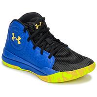 Zapatos Niños Baloncesto Under Armour GS JET 2019 Azul / Amarillo