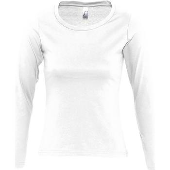 textil Mujer Camisetas manga larga Sols MAJESTIC COLORS GIRL Blanco