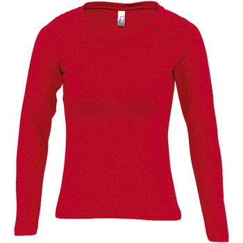 textil Mujer Camisetas manga larga Sols MAJESTIC COLORS GIRL Rojo