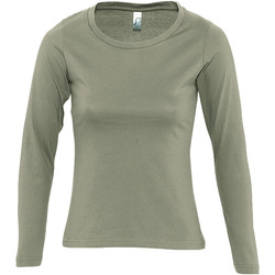 textil Mujer Camisetas manga larga Sols MAJESTIC COLORS GIRL Verde