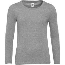 textil Mujer Camisetas manga larga Sols MAJESTIC COLORS GIRL Gris