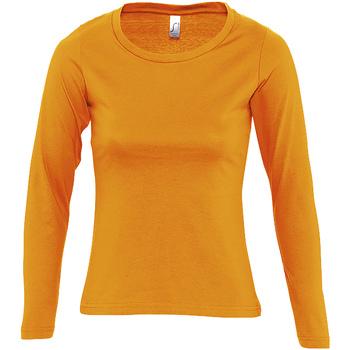 textil Mujer Camisetas manga larga Sols MAJESTIC Naranja