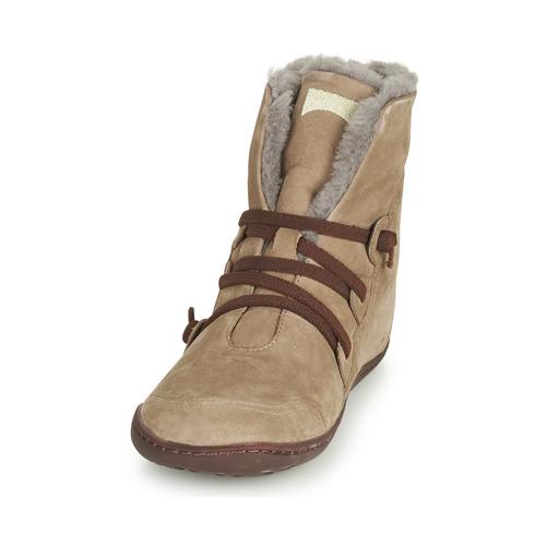 Peu Baja Mujer De Zapatos Caña Cami Camper Botas Beige 8P0Owkn