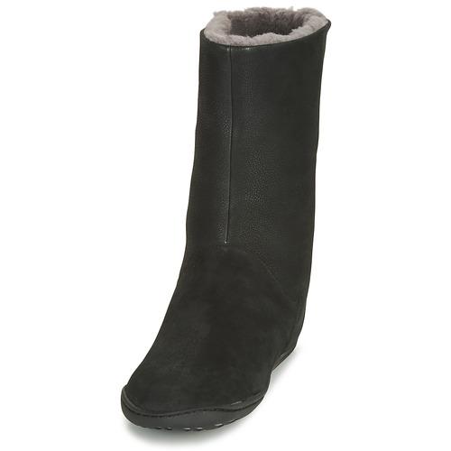 Negro Botas Caña Camper Baja Mujer Peu Zapatos De Cami Rj5A34L