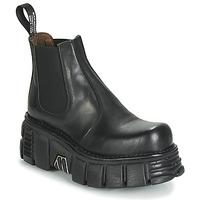 Zapatos Mujer Botas de caña baja New Rock M-1554-C1 Negro