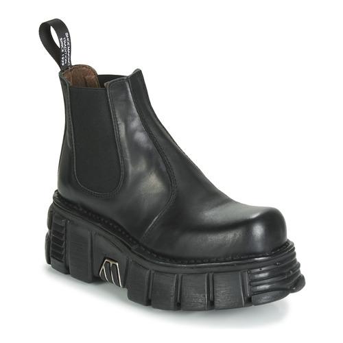 M Caña New Rock De Botas 1554 Zapatos Mujer c1 Negro Baja K1lc3JuTF