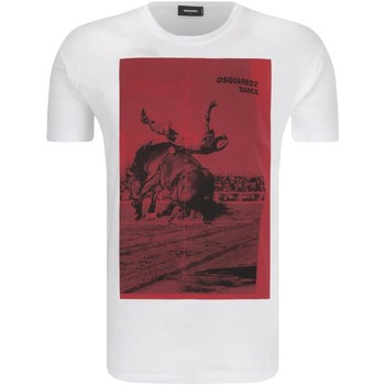 textil Hombre camisetas manga corta Dsquared T-Shirts S71GD0712 blanco