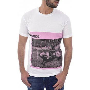 textil Hombre camisetas manga corta Dsquared T-Shirts S71GD0713 blanco