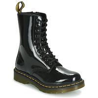 Zapatos Mujer Botas de caña baja Dr Martens 1490 PATENT LAMPER Negro