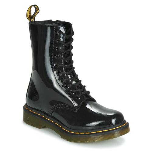 Dr Martens 1490 PATENT LAMPER Negro - Envío gratis | ! - Zapatos Botas de caña baja Mujer