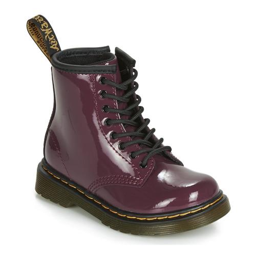 Zapatos Niña Botas de caña baja Dr Martens 1460 PATENT TODDLER Violeta