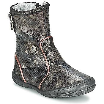 Zapatos Niña Botas urbanas Catimini CLABAUD Bronce / Negro
