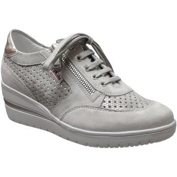 Zapatos Mujer Richelieu Mobils By Mephisto Precilia perf Cuero gris claro
