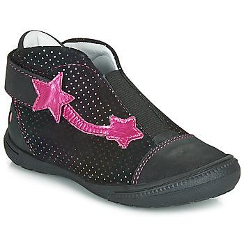 Zapatos Niña Botas de caña baja GBB NOLWENN Negro / Rosa