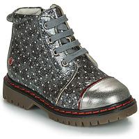 Zapatos Niña Botas de caña baja GBB NEVA Gris / Metalizado