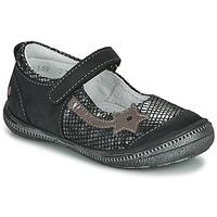 Zapatos Niña Bailarinas-manoletinas GBB NYOKO Negro / Plata