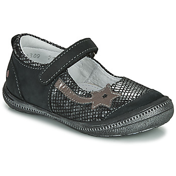 Zapatos Niña Bailarinas-manoletinas GBB NYOKO Negro / Plata