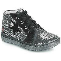 Zapatos Niña Zapatillas altas GBB LETO Negro / Plata