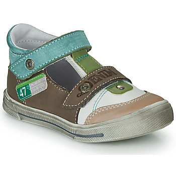 Zapatos Niño Sandalias GBB PEPINO Marrón / Beige / Verde