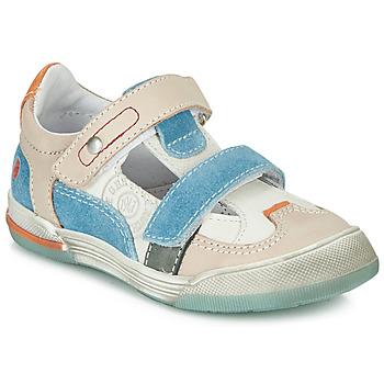 Zapatos Niño Zapatillas bajas GBB PRINCE Blanco / Beige / Azul