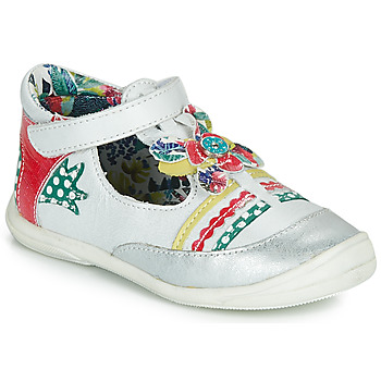 Zapatos Niña Bailarinas-manoletinas Catimini PANTHERE Vte / Blanco - plata / Dpf / BelÉn