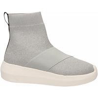 Zapatos Mujer Zapatillas altas Fessura HI-TWINS KNIT silver-ice