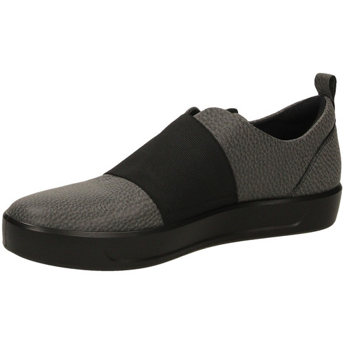 Ecco SOFT 8 L SHINEBRIGHT black-nero - Zapatos Slip on Mujer