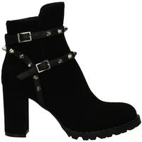 Zapatos Mujer Botas de caña baja Mivida CAMOSCIO/NAPPA nero-nero