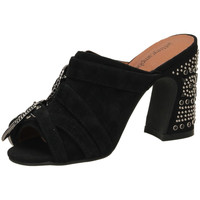15969856 Zapatos Mujer Zuecos (Mules) Jeffrey Campbell JCS FANTA-JWL SUEDE black-nero