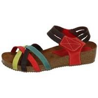 Zapatos Mujer Sandalias Interbios Sandalias bio cuÑa Multicolor