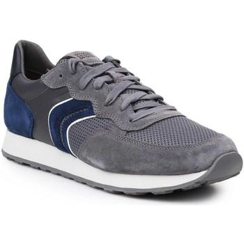 Zapatos Hombre Zapatillas bajas Geox U Vincit B U845VB-02214-C1F4R gris, azul marino