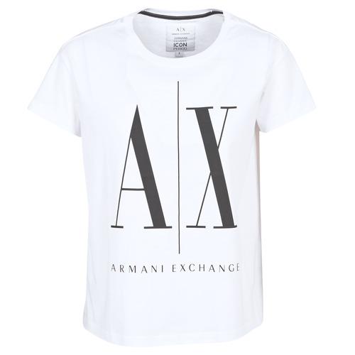 Armani Exchange 8NYTCX-YJG3Z-5102 Blanco - Envío gratis | ! - textil camisetas manga corta Mujer
