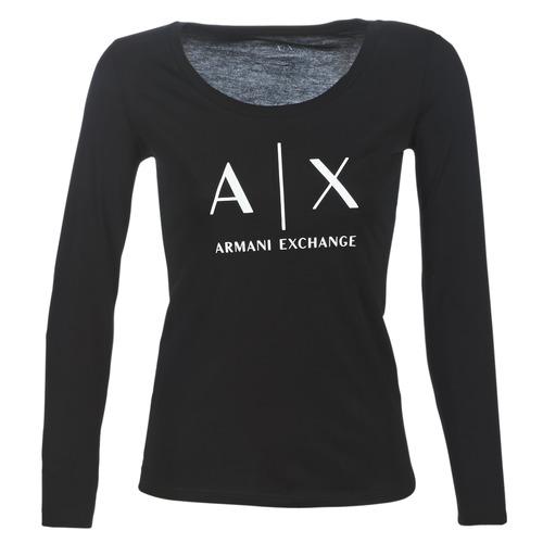 Armani Exchange 8NYTDG-YJ16Z-1200 Negro - Envío gratis   ! - textil Camisetas manga larga Mujer