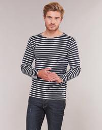 textil Hombre Camisetas manga larga Armor Lux VERMO Marino / Blanco