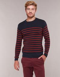 textil Hombre jerséis Armor Lux LEOPOLD Marino / Rojo