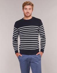 textil Hombre jerséis Armor Lux MARIO Marino / Blanco