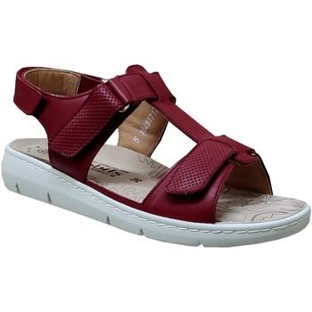 Zapatos Mujer Sandalias Mobils By Mephisto Cassidie Cuero rojo