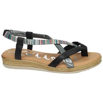 Zapatos Mujer Sandalias Karralli Sandalias dedo rayas NEGRO