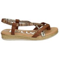 Zapatos Mujer Sandalias Karralli Sandalias dedo rayas Marrón