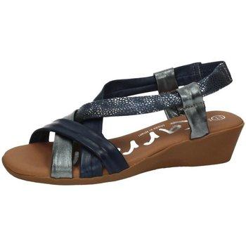 Zapatos Mujer Sandalias Karralli Sandalias cuÑa tiras MARINO