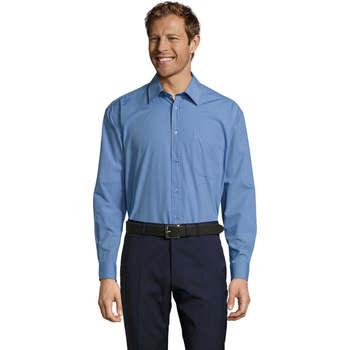 textil Hombre camisas manga larga Sols BALTIMORE WORK Azul