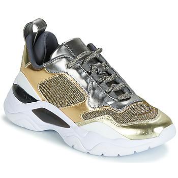 Zapatos Mujer Zapatillas bajas Guess FURNER Plateado / Dorado